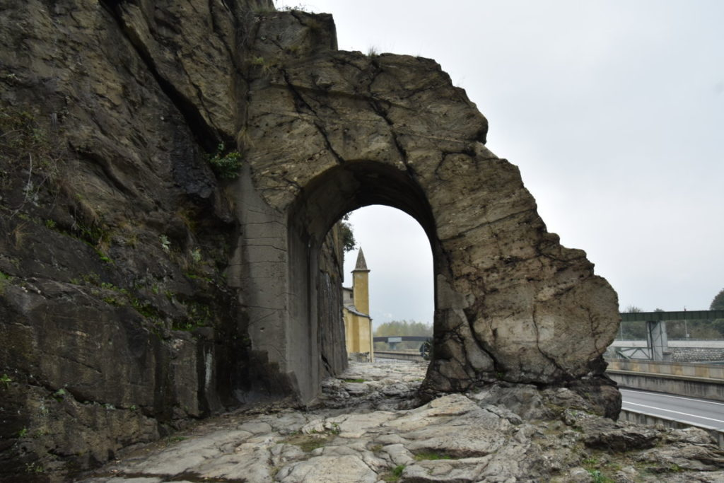 The Roman Arch in Donnas