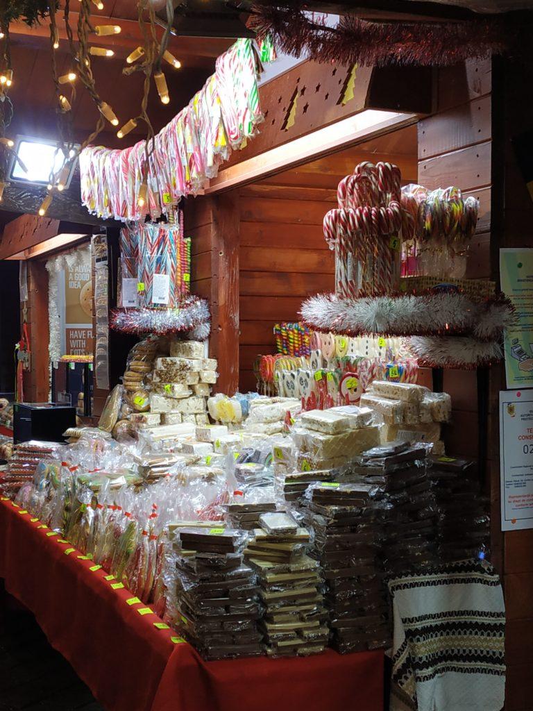 Candies at Bucharest Christmas market 2019